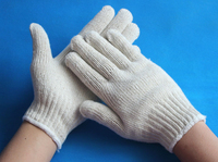 Easy and safety 100% cotton knitted working gloves