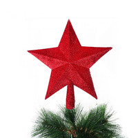 Best Sale NEW 3 Colors Christmas XMAS Tree Decoration Topper Star Hanging Ornament Home Garden Party Decor