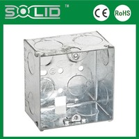 Single Gang enclosure switch and socket galv adaptable boxes with fixing lugs for wire protcetion