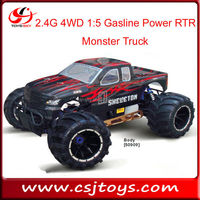 2.4G 4WD 1:5 huge scale Gasoline Nitro Power RTR Monster Truck HSP cars trucks