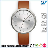 Brushed 316L stainless steel case sapphire crystal japan movement water resistant 50 meters lady thin wrist watch