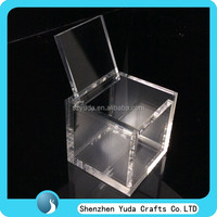 Free shipping retail shop used crystal case custom clear cube box/ 6x6x6 cm clear gift cubes