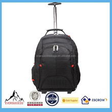 Trolley Bag With Detachable Backpack Outdoor Shoulder Rolling Bags 1680D Laptop Backpack
