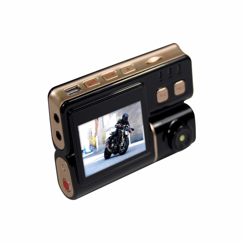 Vsys 2017 latest mixed new version T2 motorcycle camera DVR with real 1080P FHD front camera and rear view VGA waterproof camera