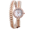 W4793 Rose Gold Pearl Crystal Long Bracelet custom made watches