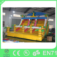 2015 crazy funny dragon inflatable water slide for sale