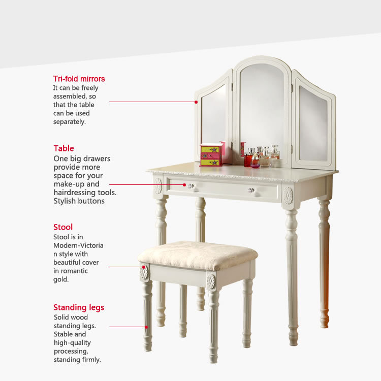 retailing bedroom furniture jade white dressing table