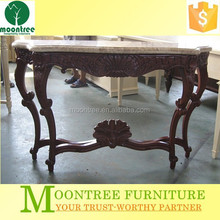 MCS-1107 Top Quality Five-star Hotel Marble Top Curved Legs Console Table
