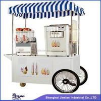 Cool Summer Mobile Soft Icecream Cart wih ice cream machine JX-IC160 icecream push cart