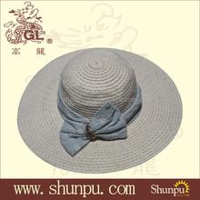 100% Paper Straw Lady's fashion Big Brim sun hat