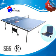 Tournament-sized Table tennis table,Indoor 16mm Tabletop Ping Pong Table,Folding and moveable tennis table ping pong game
