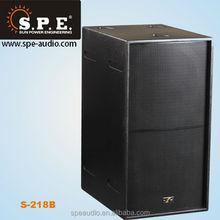 "multimedia subwoofer speaker system dual 18"" 1000W professional speaker subwoofer,sound system, audio speaker"