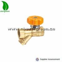 Sanitary check brass ball valve