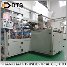 Automatic wrap around case packer for beverage production line