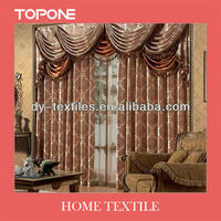 2013 Fashion New design 100% window luxury polyester curtain
