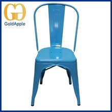 Metal blue Powder Coating home restaurant chair low back dining chair