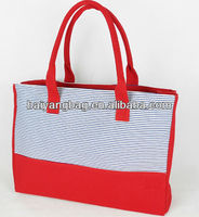promotional canvas shopping bag hand bag for ladies