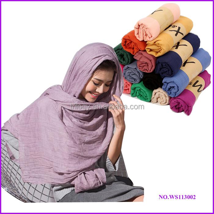 2014 mejor venta de moda hijab bufandas árabes para el invierno/1 dollar bufanda