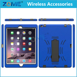 China Supplier Robot Design Stripe Pattern Shockproof Tablets Case with Vertical Stand For iPad Pro