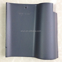 Jiangsu wanxiang ceramic bent roof tile, blue glazed clay roof tiles with low price