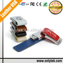 Hot Selling New Design Luxury Leather USB, Best Promotion Gift High Quality Real Leather USB Flash Drive