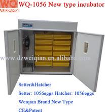 New type 1000 chicken egg incubator hatcher wq-1056 automatic egg incubator 1000eggs