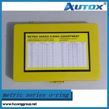 high quality yellow color metric series o-ring assortment/o-ring kit/o-ring box -404 pieces 70 shore
