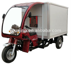 chinese 3 wheel motor tricycle with colsed box