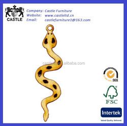 Wood Charm, Snake, 39x11mm Wooden snake charms,small wooden crafts