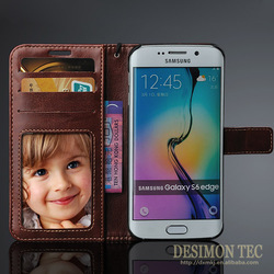 factory directly leather wallet case for samsung galaxy s6 edge case new 2015