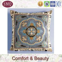 High quality cotton exclusive brand embroidered velvet solid cushion