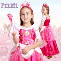 halloween costume sleeping beauty princess dress for kids