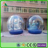 Nice christmas items large christmas inflatable snow globe hot sale