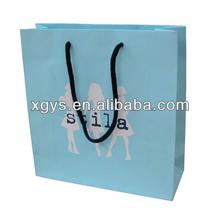 marca de fábrica famosa bolsa de papel para la ropa