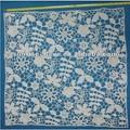 patrón de flores de encaje de algodón tela del bordado