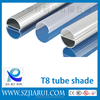 Top Level and High Quality LED Oval Tube Light Housing/components/parts/accessories/shell for T8 led light