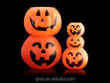 hot sale halloween festival props plastic pumpkin shaped candy jars