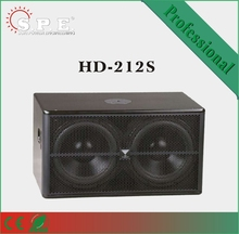 SPE Speakers, loudspeakers, HD-212S 800W dual 12 inch speakers subwoofer, compact cabinet