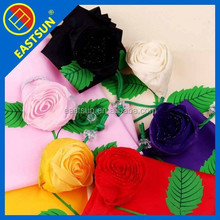 New style custom-made rose purchasing folding shopping bag
