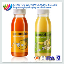 Custom print label plastic shrink wrap pvc film roll for bottle packaging