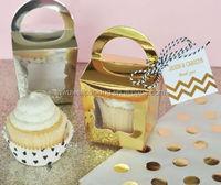 China supplier sales tote cupcake box,single cupcake box with handle from alibaba shop
