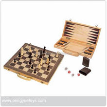 18 in 1 Chess Games , Chess&Checkers Set , Wooden shut the Box