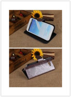 Hot! High-Grade Atmosphere Fire Tree Pattern Cover Stand PU Leather Phone Case With Card Holder For Samsung galaxy Note2 N7100