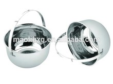 stainless steel round water bucket with handle