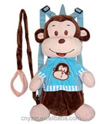 Kids Toddler Monkey Backpack Walk Help Keeper Safety Anti-lost Harness/anti-lose plush monkey toy