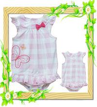 Venta al por mayor carter's de bebé niña 100% mameluco de algodón ropa del bebé de manga corta monos del bebé niña