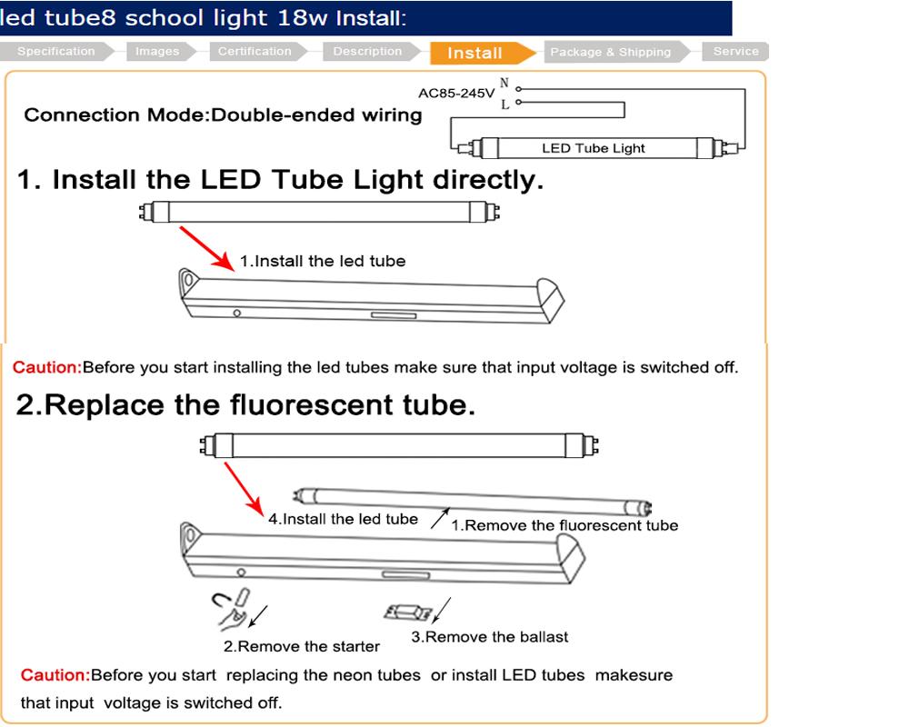 tube light installation