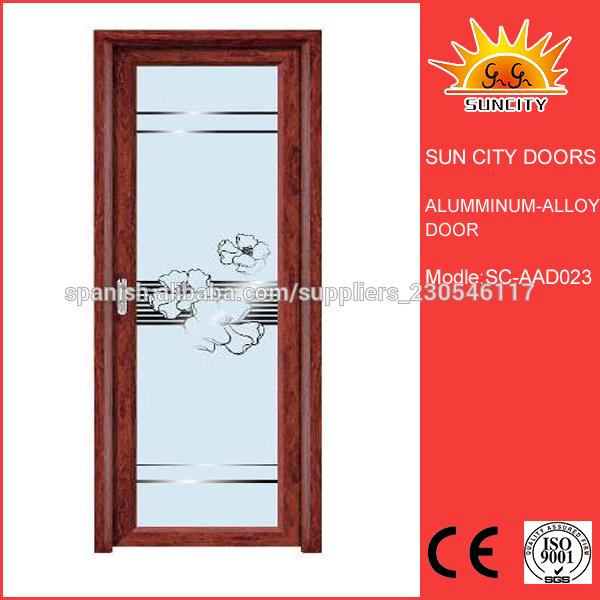 Puertas De Baño Alfa:impermeable puerta de aleación de aluminio de baño SC-AAD023 China