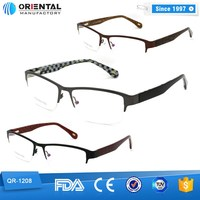 2015 beautiful glasses frames half Rim Metal optical frames wholesale fashion optical frames manufacturers in china