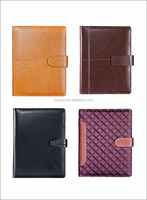 2016/2017 embossed leather or pu covers daily planner diary and notebooks